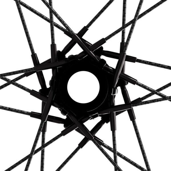 carbon fiber road bike wheel with carbon composite spokes