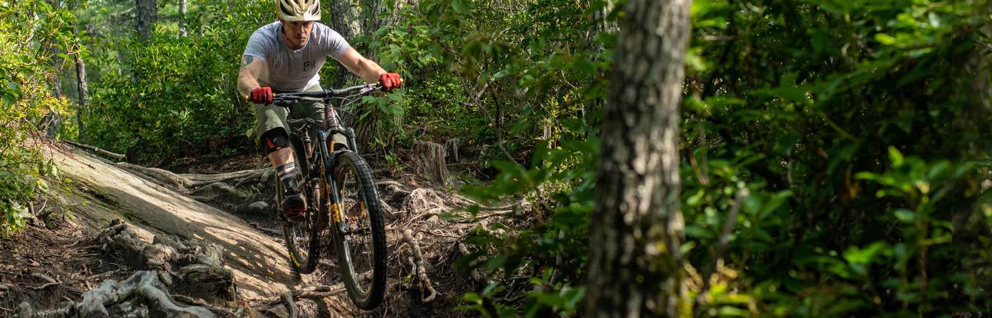 mountain biker pisgah