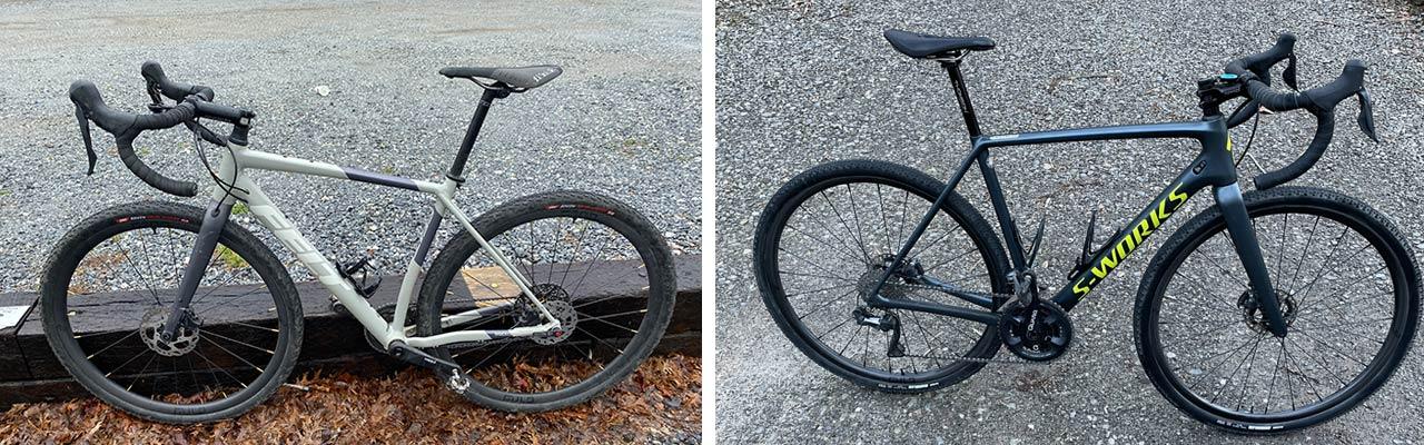 gravel bike and cyclocross bike